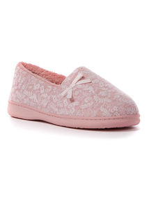 Pink Puff Print Slipper
