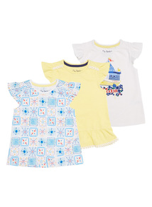 Girls Ocean Tees 3 Pack (9 months - 6 years)