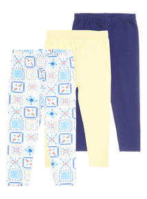 Girls Capri Leggings 3 Pack (9 months - 6 years)