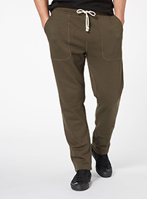 Khaki Fitted Joggers