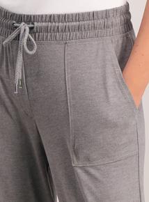 Grey Patch Pocket Joggers