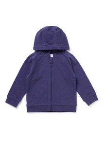 Navy Anchor Hoodie (0-24 months)