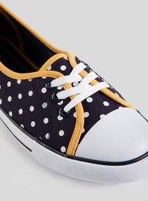 f3f2a6c3f79a Online Exclusive Navy Spot Print Low Lace Pumps