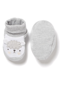 Grey Sheep Booties (0-24 months)