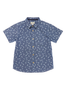 Boys Denim Dino Shirt (3-12 years)