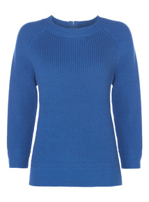 Rack Stitch Trim Jumper
