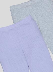 Lilac & Grey Thermal Leggings (2-12 Years)