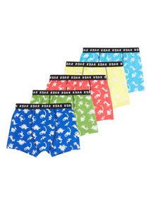 Multicoloured Dino Trunks 5 Pack