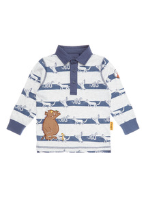 Navy Gruffalo Stripe Rugby Shirt (3-14 years)