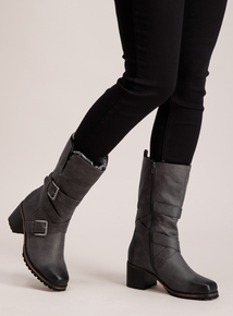 Sole Comfort Grey Faux Fur Lined Mid Boots