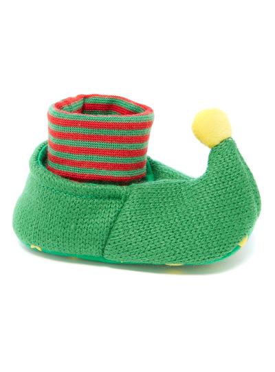 Green Christmas Elf Pop-On Booties (0-24 months)