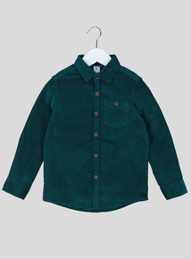 Green Corduroy Long Sleeve Shirt (1-6 years)