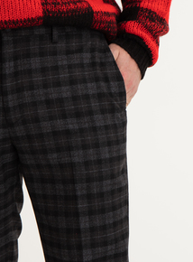 GFW Charcoal Tartan Trousers