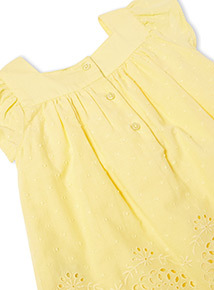 Yellow Woven Top  (0-24 months)