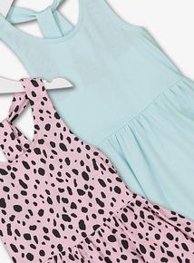 Online Exclusive Multicoloured Loop-Back Dresses 2 Pack