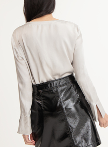 GFW Silver Button Down Blouse
