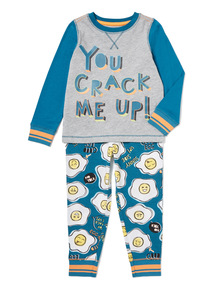 Grey Slogan Pyjamas (3-12 years)