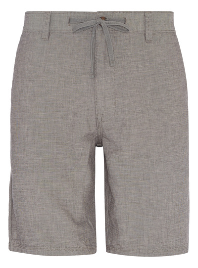 Grey Linen Chino Shorts