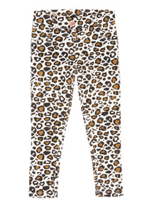 Multicoloured Leopard Jeggings (9 months-6 years)