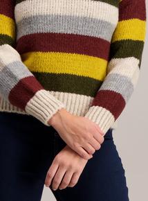 Multicoloured Striped Knit Jumper