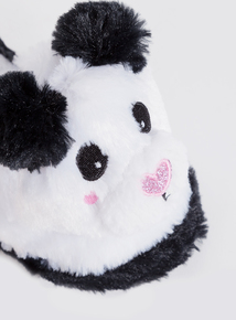 White Novelty Panda Mule Slippers