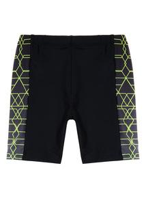 Black Panel Swim Shorts (3 - 12 years)
