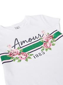 White Amour T-shirt  (3-14 years)