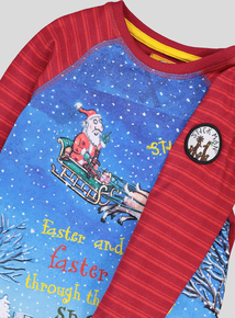 Christmas 'Stick Man' Long Sleeve T-Shirt (9 months-6 years)