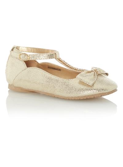 2b592648cf25 Kids Girls Gold Party Shoes