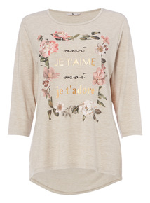 Cream Floral Graphic Tee