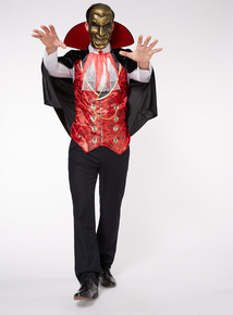 Adult Black Halloween Vampire Costume