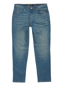 Green Tint Wash Slim Stretch Denim Jeans