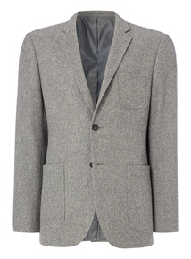 Grey Slim Fit Donegal Jacket