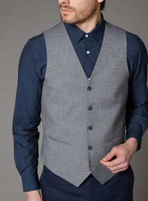 Grey Grindle Slim Fit Suit Waistcoat