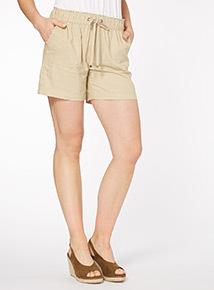 Stone Linen Shorts