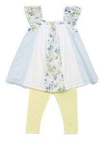 Multicoloured Patchwork Woven Set (9 months-6 years)