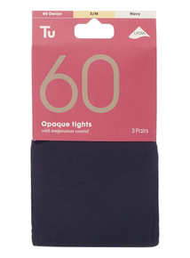 Navy Opaque Tights 3 Pack