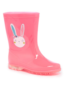 Pink Light Up Bunny Welly
