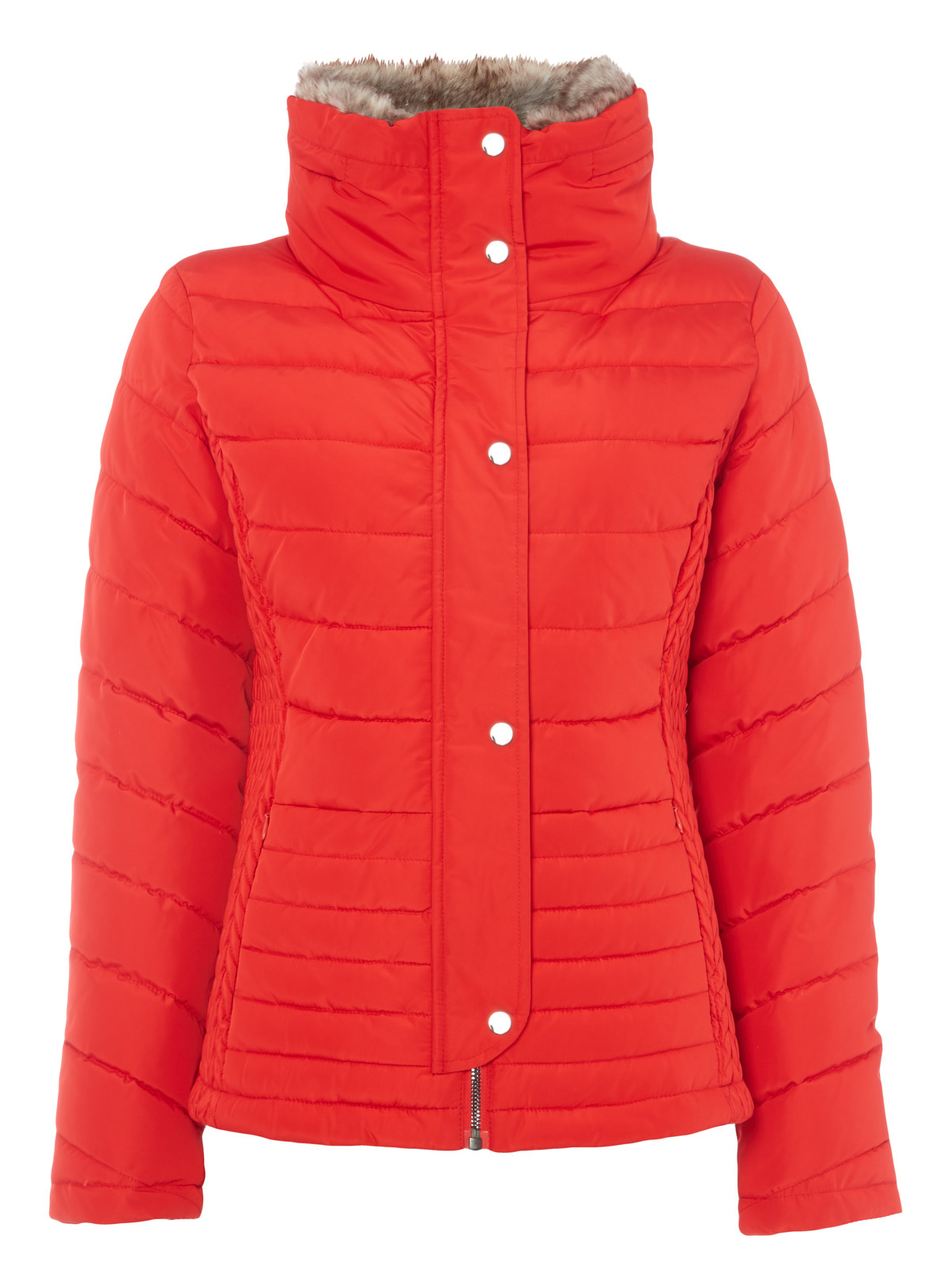 Womens Red Quilted Padded Jacket | Tu clothing