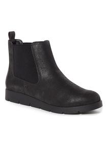 Black Flexi Ankle Boots