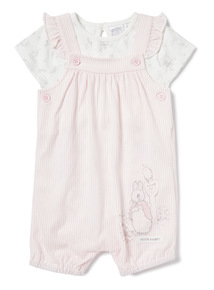 Pink Peter Rabbit Bibshort Set (Newborn-12 months)