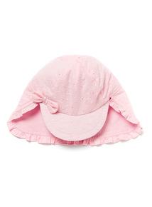 Pink Broderie Sun Hat (0-24 months)