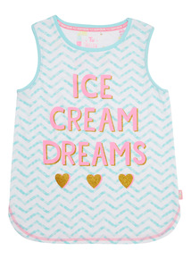 Mix and Match Multicoloured Ice Cream Dreams PJ Vest (3 - 14 years)