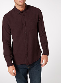 Purple Twill Slim Fit Shirt