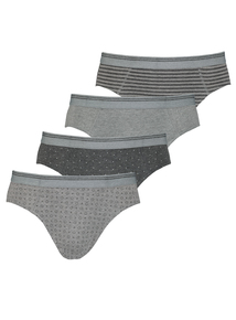 4 Pack Grey Printed Slips