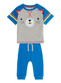 Multicoloured Cat Jersey Set (0 - 24 months)