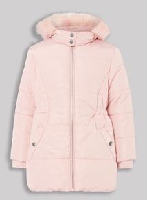 Pink Puffa Coat (3-14 years)