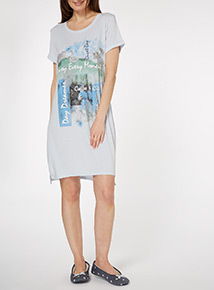 Cream Print Night Dress