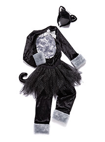 Black Halloween Cat Outfit (3-12 years)