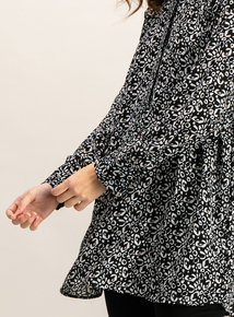 Monochrome Animal Print Tunic